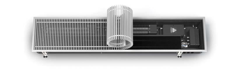 Встроенный конвектор в пол Varmann Qtherm Electro