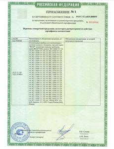 сертификация IRSAP TESI 2
