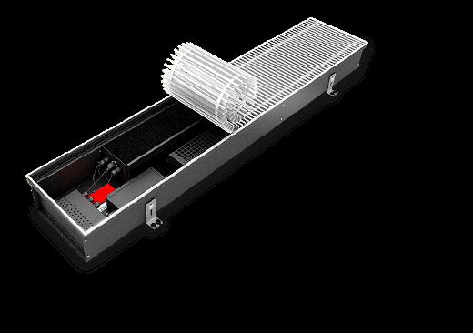Внутрипольный конвектор в теплообменнике используются электрическй нагрев