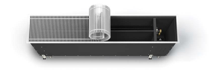 Внутрипольный конвектор с высокой теплоотдачей